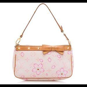 Louis Vuitton Takashi cherry blossom pochette